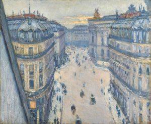 Gustave Caillebotte: Rue Halévy, Blick aus der sechsten Etage, 1878